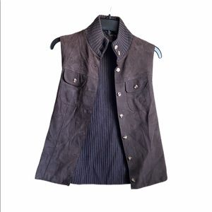 J. McLaughlin brown merino wool leather XS